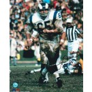 """Tom Mack Los Angeles Rams Autographed 8"""" x 10"""" Photograph Inscribed with """"HOF 99"""" (Unframed)"""