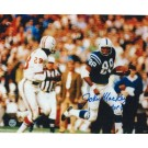 "John Mackey Autographed ""Running Down the Sideline"" Baltimore Colts 8"" x 10"" Photo with ""HOF 92"""