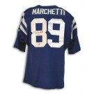 """Gino Marchetti Autographed Baltimore Colts Blue Throwback Jersey Inscribed """"HOF 72"""""""