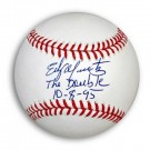 "Edgar Martinez Autographed OML Baseball Inscribed ""The Double 10-8-95"""