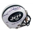 Don Maynard Autographed New York Jets Riddell Pro Line Authentic Full Size Football Helmet with 4 Inscriptions