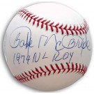"Bake McBride Autographed Baseball Inscribed with ""1974 NL ROY"""