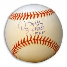 "Denny McLain Autographed American League Baseball Inscribed with ""31-6 1968"" and ""MVP-CY"""