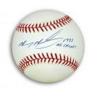 "Mickey Morandini Autographed MLB Baseball Inscribed with ""1993 NL Champs"""