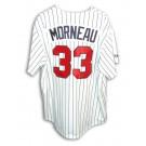 Justin Morneau Autographed Minnesota Twins White Pinstripe Majestic Baseball Jersey