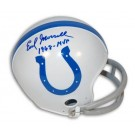 "Earl Morrall Baltimore Colts Autographed Throwback Mini Football Helmet Inscribed with ""1968 - MVP"""