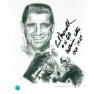 "Earl Morrall Baltimore Colts Autographed 8""x10"" Unframed Lithograph Inscribed with ""#15 QB Baltimore Colts 1968 MVP"""