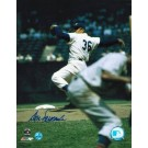 """Don Newcombe Autographed """"Pitching"""" Brooklyn Dodgers 8"""" x 10"""" Photo"""