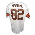 """Ozzie Newsome Autographed Custom Throwback Football Jersey with """"HOF 99"""" Inscription (White)"""