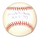 "Phil Niekro Autographed Baseball Inscribed with ""HOF 97"""