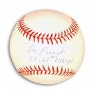 """Ron Perranoski Autographed Baseball Inscribed with """"63-65 WS Champs"""""""