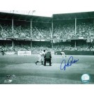 "Johnny Podres Autographed ""View from Behind the Plate"" Brooklyn Dodgers 8"" x 10"" Photo"