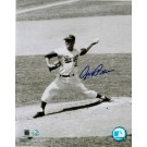 "Johnny Podres Autographed ""Pitching"" Brooklyn Dodgers 8"" x 10"" Photo"