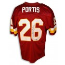 Clinton Portis Autographed Washington Redskins Red Throwback Jersey