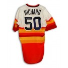 "J.R. Richard Autographed Houston Astros ""Rainbow"" Majestic Jersey Inscribed ""80 All Star"""