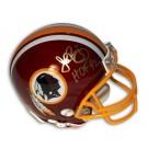 John Riggins Washington Redskins Hall of Fame Autographed Mini Helmet
