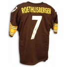 Ben Roethlisberger Steelers Autographed Custom Throwback NFL Football Jersey with New Style Number (Black)