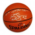 """Ralph Sampson Autographed Official NBA Basketball  Inscribed """"1985-86 Western Conf Champs"""""""