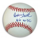 "Rafael Santana Autographed Baseball Inscribed with ""86 WSC"""