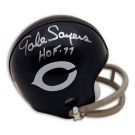 """Gale Sayers Chicago Bears Autographed 2 Bar Mini Helmet Inscribed with """"HOF 77"""""""