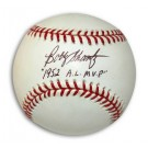 "Bobby Shantz Autographed Baseball Inscribed with ""1952 AL MVP"" (Black Ink)"