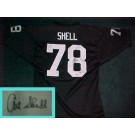 Art Shell Autographed Oakland Raiders Throwback Black Jersey
