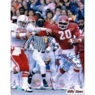 "Billy Sims Autographed Oklahoma Sooners 8"" x 10"" Photo Inscribed ""#20"" and ""78 Heisman"""