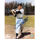 """Enos Slaughter Autographed """"Swinging"""" New York Yankees 8"""" x 10"""" Photo"""