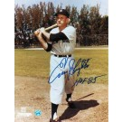 """Enos Slaughter New York Yankees Autographed 8"""" x 10"""" Photograph Inscribed with """"HOF 85"""" (Unframed)"""