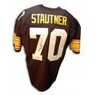 """Ernie Stautner Autographed Pittsburgh Steelers Throwback Jersey Inscribed with """"HOF 1969"""""""