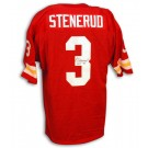 """Jan Stenerud Autographed Kansas City Chiefs Throwback Red Jersey with """"HOF 91"""" Inscription"""