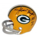 """Jim Taylor Green Bay Packers Autographed Throwback Mini Football Helmet Inscribed with """"HOF 76"""""""