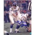 "Mick Tingelhoff Autographed Minnesota Vikings 8"" x 10"" Photograph (Unframed)"
