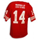 Y.A. Tittle Autographed San Francisco 49ers Throwback Red Jersey