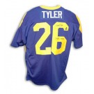 """Wendell Tyler Autographed Custom Throwback Football Jersey with """"79 NFC Champs"""" Inscription (Blue)"""