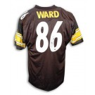 Hines Ward Autographed Custom Throwback Football Jersey (Black)