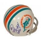 "Paul Warfield Miami Dolphins Autographed Mini Football Helmet Inscribed with ""HOF 83"""