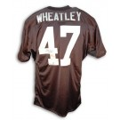 Tyrone Wheatley Autographed Custom Throwback Football Jersey (Black)