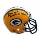 "Reggie White Autographed Green Bay Packers Mini Helmet Inscribed ""Minister of Defense"""