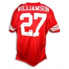 Carlton Williamson Autographed Custom Throwback Football Jersey (Red)