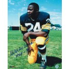 """Willie Wood Green Bay Packers Autographed 8"""" x 10"""" Kneeling Photograph Inscribed """"HOF 89"""" (Unframed)"""