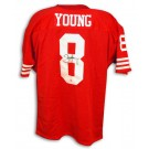 Steve Young Autographed San Francisco 49ers Throwback Red Jersey