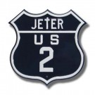 """Steel Route Sign:  """"JETER US 2"""""""