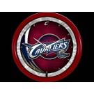 Cleveland Cavaliers Plasma Neon Clock