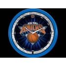 New York Knicks Plasma Neon Clock