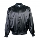 Adult Satin Baseball Jacket with Solid Trim (2X-Large) From Augusta Sportswear