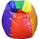 Rainbow Vinyl Bean Bag Chair