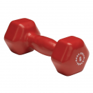 6 lb. Red Single Vinyl Dumbbell by Body Solid