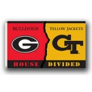Georgia Bulldogs / Georgia Tech Yellow Jackets Rivalry 3' x 5' Flag