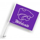 Kansas State Wildcats Car Flags - 1 Pair